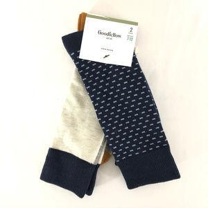 Goodfellow & Co Mens Crew Socks 2 Pairs Polka Dot